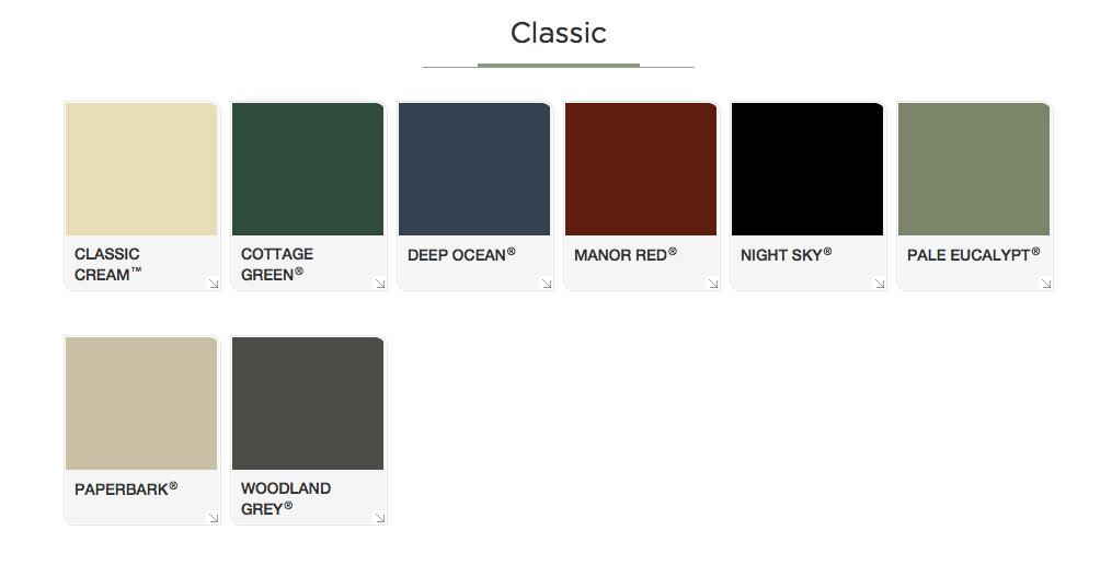 Classic-Colorbond-Colors